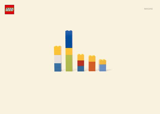 Lego running a series of minimalist print ads featuring cartoon characters, including The Simpsons. An original idea borrowed and applied to 8 TV shows.