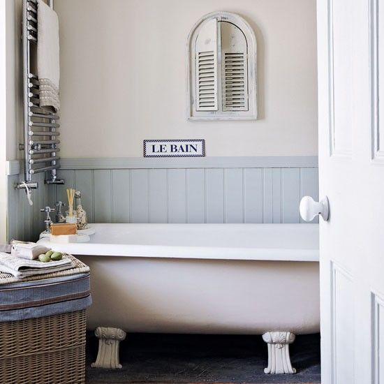 Gallic Inspired Seaside Retreat Tour Bathroom Ideas