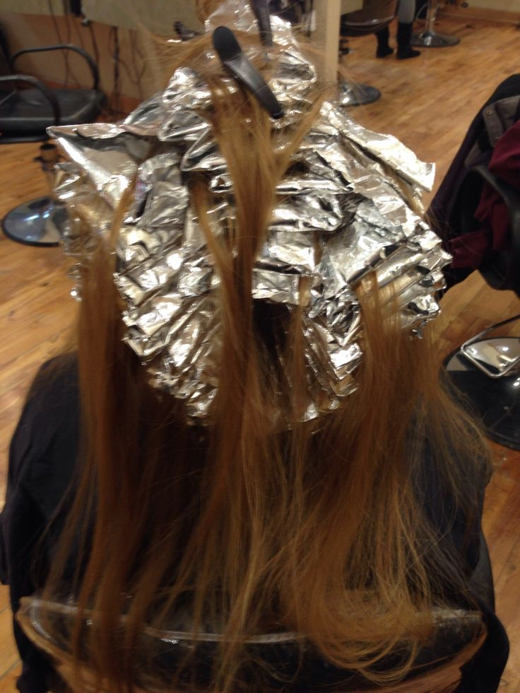 Full Head Foil Highlight Before Hair Coloring