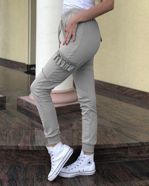 6d790bf23385 Casual Drawstring Solid Color Ruffled Pants – lalasgal