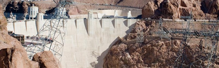 Before it was known as the Hoover Dam, it was called the Boulder Dam. This dam was constructed during the Depression (1931-1936) and took the effort of over one thousand workers.