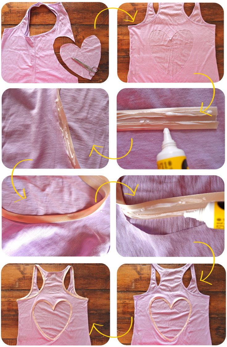 DIY Heart Cut Out Tank!