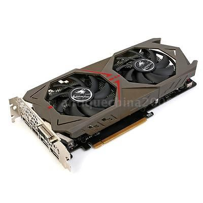 ﹩351.39. New Colorful NVIDIA GeForce GTX 1060 GPU 6GB 192bit Gaming Video Graphics Card    ISBN - Does not apply, GPU - Geforce GTX 1060, Core structure - GP106, Core technology - 16nm, CUDAs stream processors - 1280, Memory clock (MHz) - 8008, Standard memory config - 6GB GDDR5, Memory interface width - 192-bit, Bus Support - PCIe 3.0, Display port - DVI+HDMI+3*DP, Maximum digital resolution - 7680*4320@60Hz,