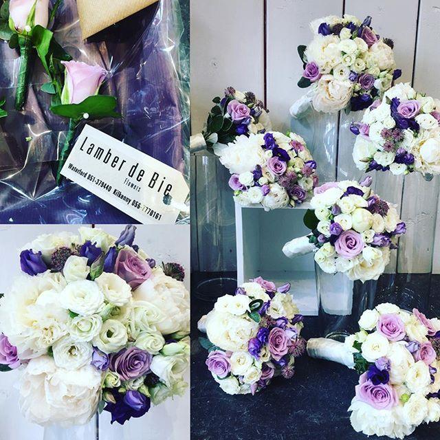 Yesterdays Wedding Flowers Lots Of White And Purple Summer Trustyourlocalflorist