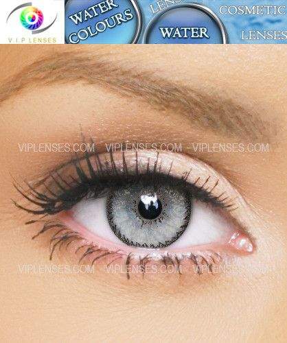 Water Colours Grey Contact Lenses | VIP Lenses