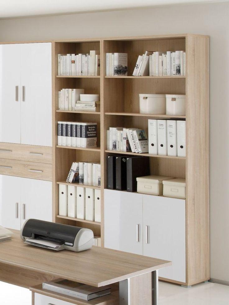 Schrank Fur Buro Aktenschrank Buroschrank Weiss Eiche Sonoma Dekor Office Line Ebay Buroschranke Aktenschrank Zimmer