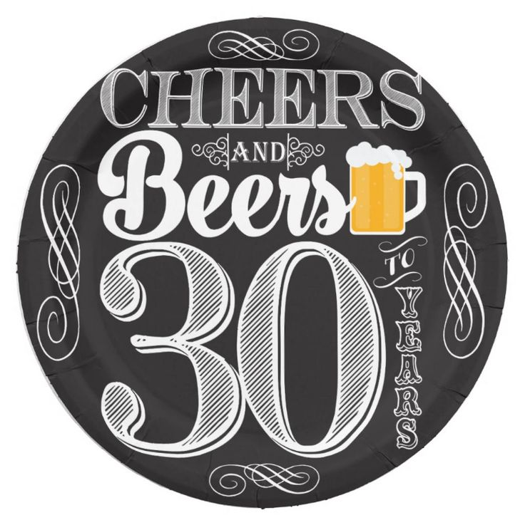 "Cheers and Beers to 30 Years Paper Plates 9"" http://ift.tt/2lu4yyd  -for the cake-"