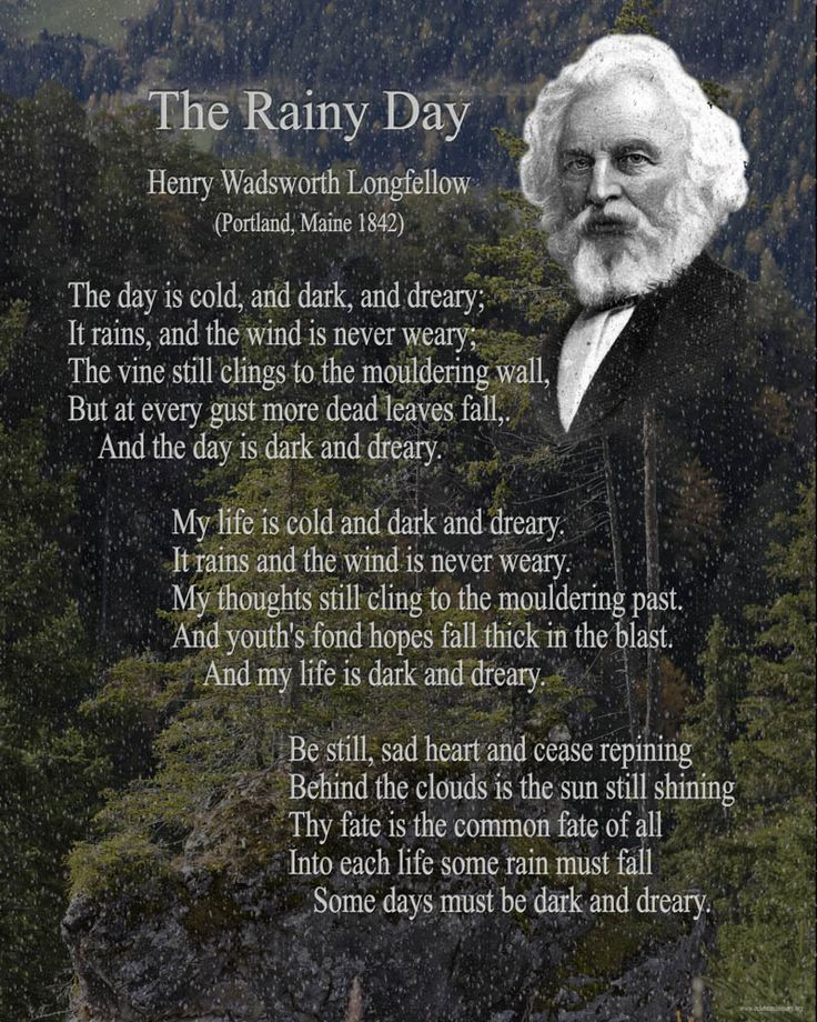 Quotes About Rainy Days: Henry Wadsworth Longfellow This Would Be A