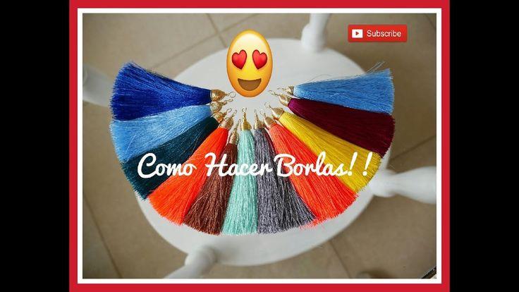 COMO HACER BORLAS FACIL!! Con Cecy Love Bisuteria - YouTube