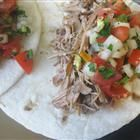 Slow Cooker Carnitas.  Excellent! First cut the shoulder into chunks, removing fat!  Increase the spices!!!