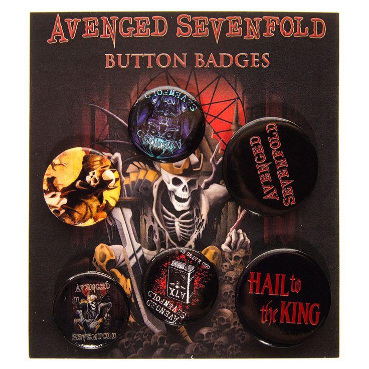 Avenged Sevenfold Hail King Badge Pack