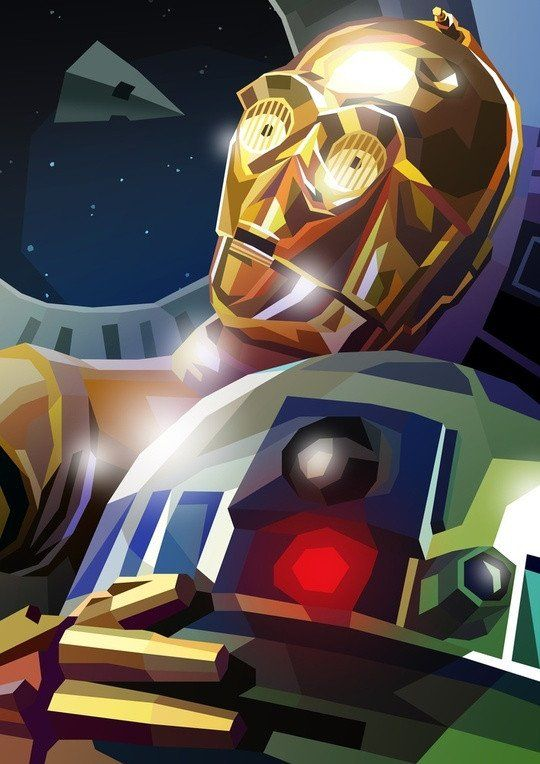 C3PO and R2D2 by Liam Brazier