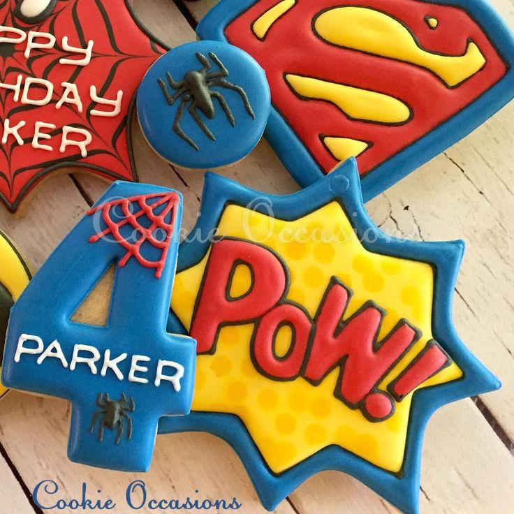 "80 Likes, 10 Comments - Anna Parnell (@cookieoccasions_) on Instagram: ""#superhero #superherocookies #superman #supermancookies #spiderman #spidermancookies…"""
