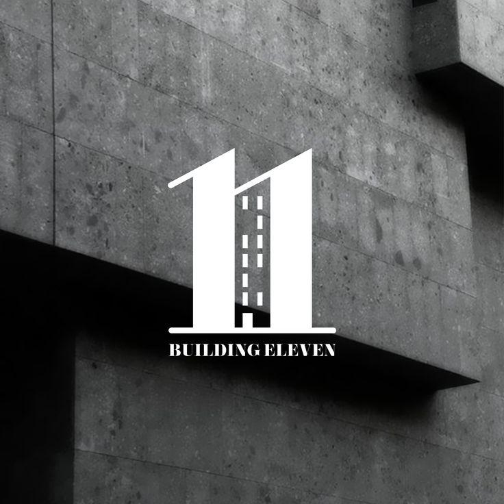 Building number logo. Branding & logo design for 'Building 11.' London.  By brandishgraphics.com