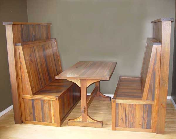 Rustic Wood Restaurant Booths Tun Tavern Booth 48 Inch