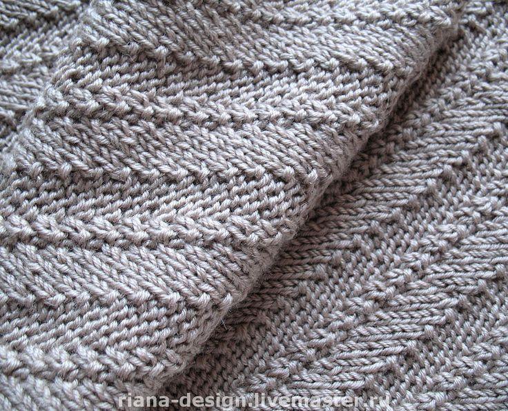 """Купить Мужской шарф """"Диагонали"""" - вязаные шарфы, мужские шарфы, вязание спицами, ручное вязание"""