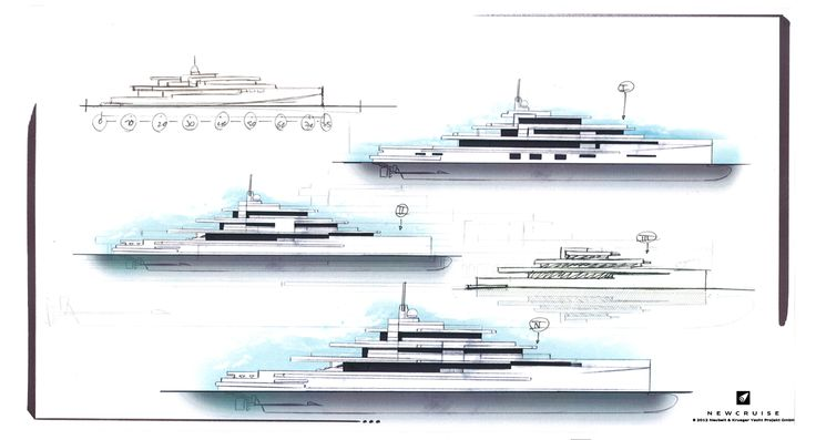 A modern take on yacht design  Concept by NEWCRUISE Yacht Projects & Design