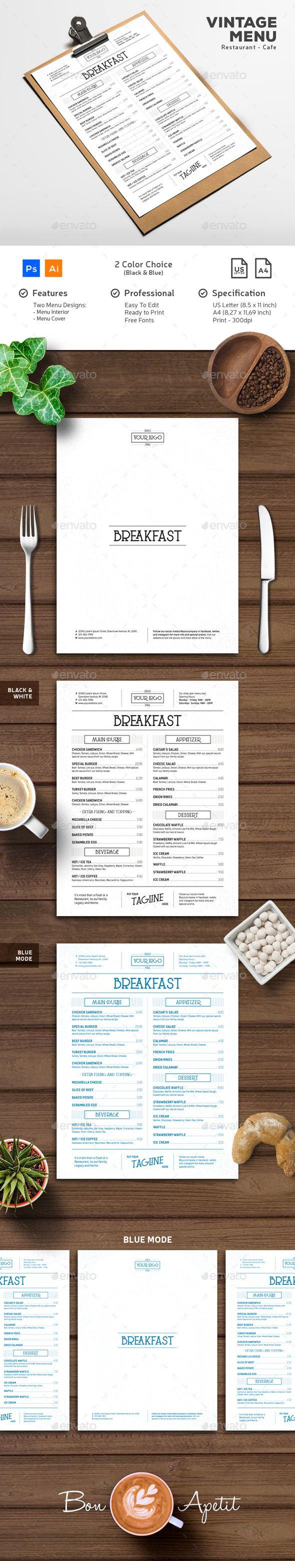 Menu Vintage Typography - #Food #Menus Print #Templates Download here: https://graphicriver.net/item/menu-vintage-typography/19614560?ref=alena994