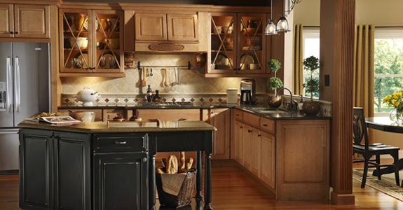 Kraftmaid Montclair Maple In Burnished Ginger I Like The Look Of These Cabinets The Best Maybe