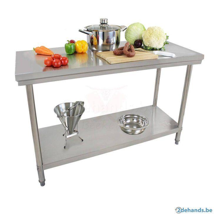 Inox tafel rvs tafel werktafel horeca keukentafel kokstafel - Te koop