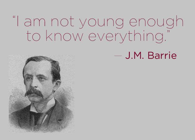 J.M. Barrie | 16 Profound Literary Quotes About Getting Older