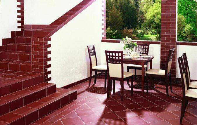 aranzacja klasycznego tarasu i schodow natural rosa ceramika paradyz