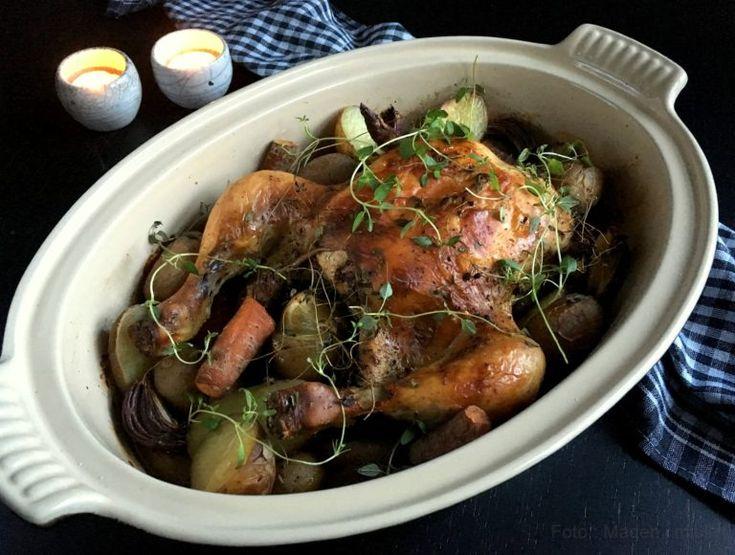 Fantastisk kylling med timian og citron i stegeso.... - MADEN I MIT LIV!