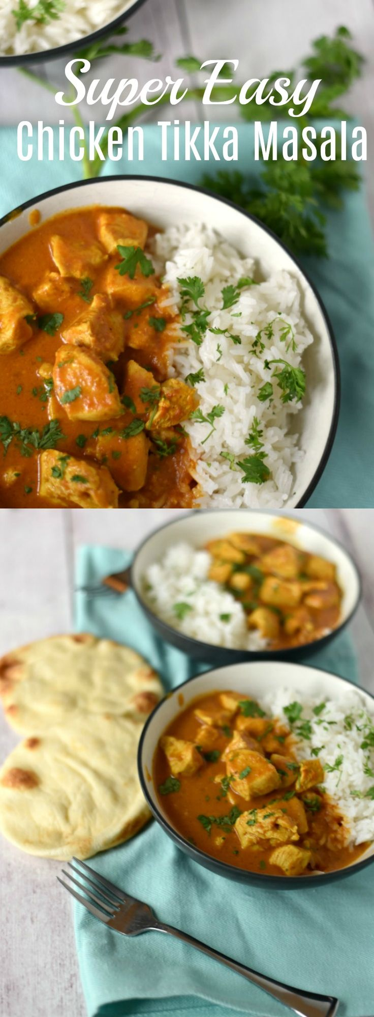 This easy Chicken Tikka Masala recipe is ready in about 20 minutes thanks to the pre-made masala paste that turns this into a pantry-staple, quick make meal your family will love! 20 Minute Meal, Freezer Meal (kind of), Indian recipe, Easy Recipe,  via @GingeredWhisk