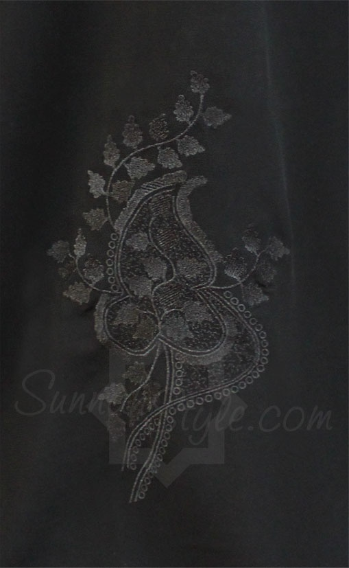 Black Filigree Closed Abaya by Sunnah Style - #SunnahStyle #Islamicclothing #abayastyle