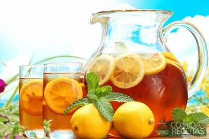 Receita de Chá gelado com cítricos em receitas de bebidas e sucos, veja essa e outras receitas aqui!