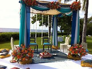 Shaahi Creations: Peacock color theme wedding