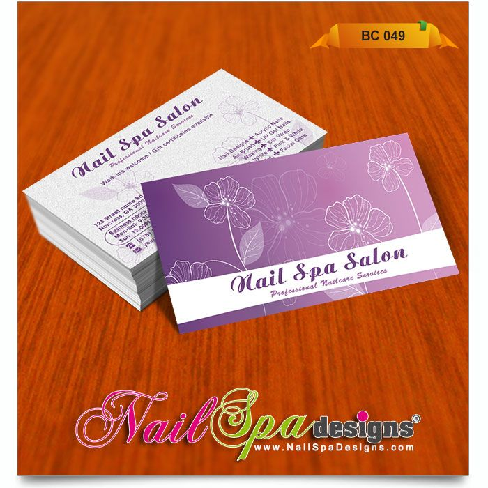 50 best Nail Spa Business Card Design images on Pinterest ...