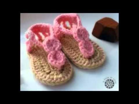 Crochet Baby Flip Flop Sandals - YouTube