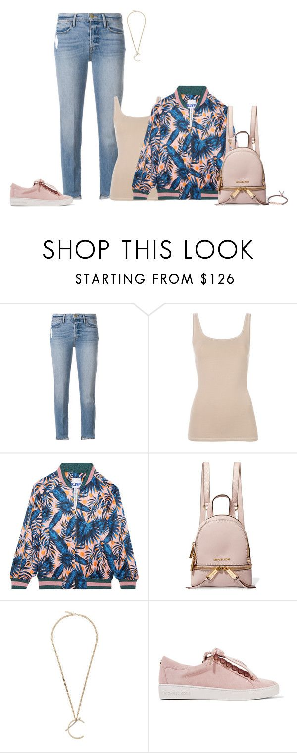 """""""Untitled #1696"""" by biancateicu ❤ liked on Polyvore featuring Frame, Theory, Steve J & Yoni P, MICHAEL Michael Kors, Givenchy and Monica Vinader"""
