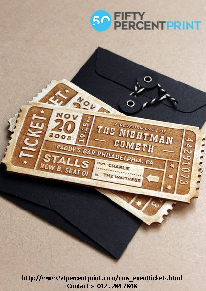 our online custom ticket wizard enables you to create your own event