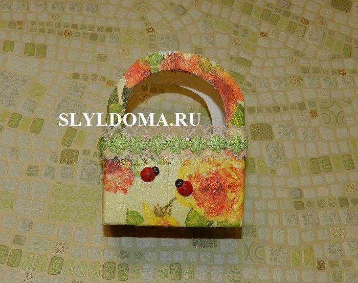Как сделать упаковку своими руками в технике декупаж? Декупаж, красивая упаковка, упаковка подарка, handmade, своими руками, золотые руки, поделки с детьми, из молока, переделки.