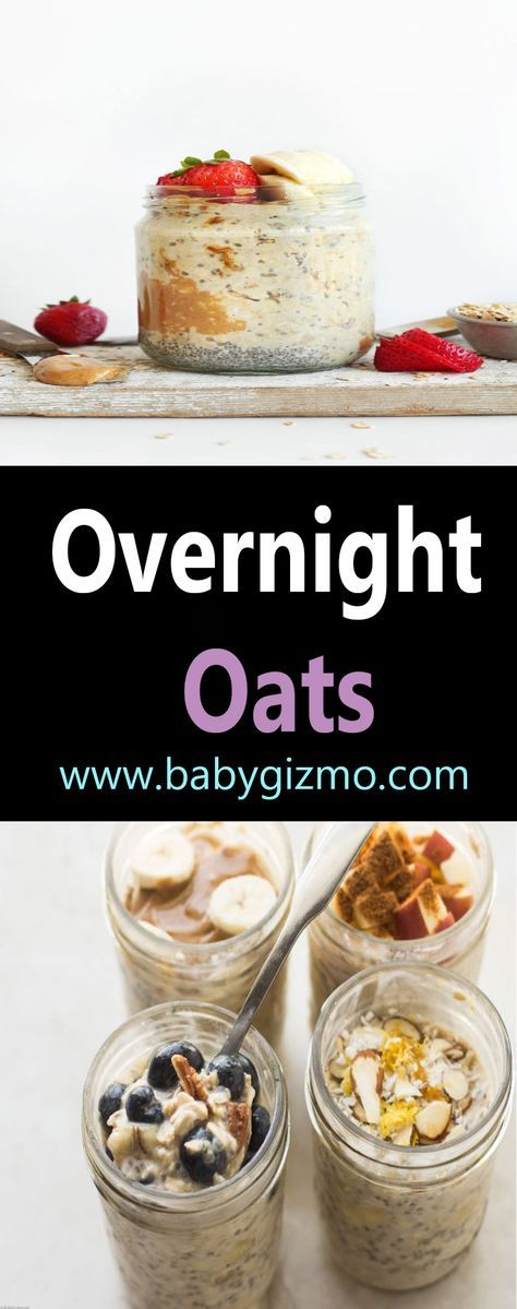Are you guys familiar with overnight oats? As the name implies, they are oats, or oatmeal, that you let sit overnight. No cooking required! The oats break down to an almost pudding-like consistency overnight. Overnight oats are also very healthy, filled with fiber, protein, antioxidants, vitamins, and healthy fats. #OvernightOats #BabyGizmo