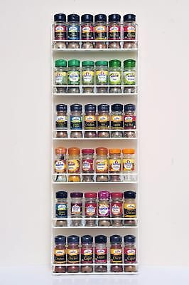 Spice Rack Easy Wall Mount or Cupboard Fix 5 Tier | eBay