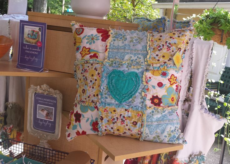 """Rag Pillow, 18 x 18"""" pillow, upcycled pillows, upcycled throw pillows, recycled throw pillows, couch pillows, by RecyclingRuthie on Etsy"""