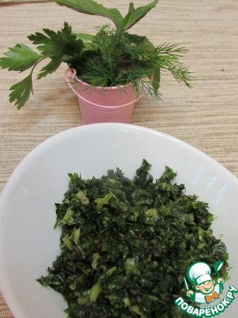 Зеленый соус из мяты, кинзы и чили ингредиенты