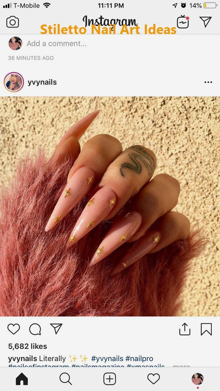 30 große Stiletto Nail Art Design-Ideen 1 #nailideas #naildesigns – Stiletto Nail art