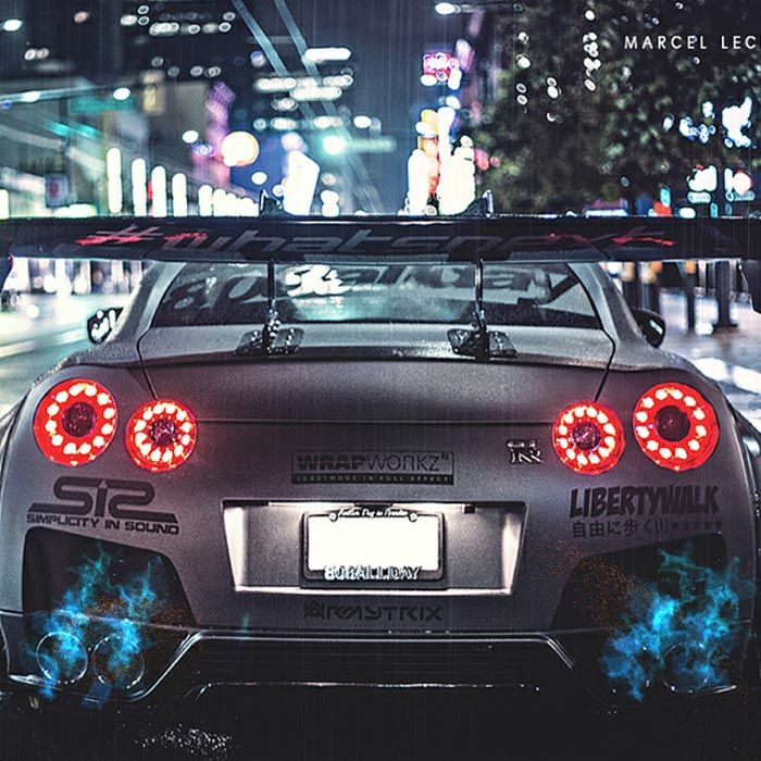Nissan GTR Fire Exhaust Wallpaper Engine