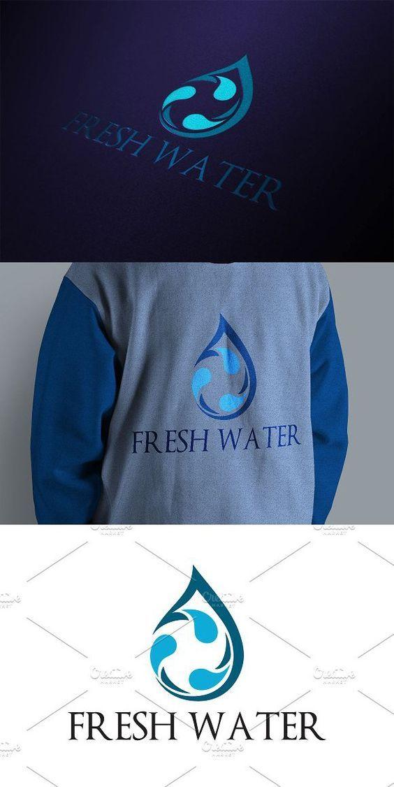 Fresh Drop Water Logo. Water Infographic