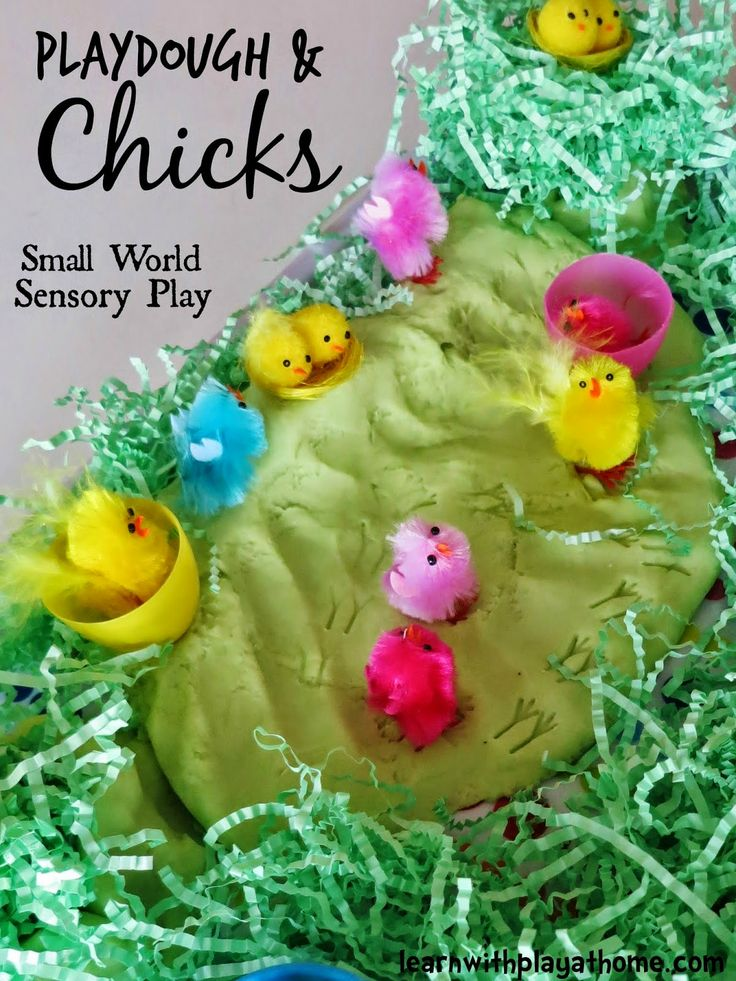 Invitation to Play. Playdough and Chicks Sensory Small World Play.