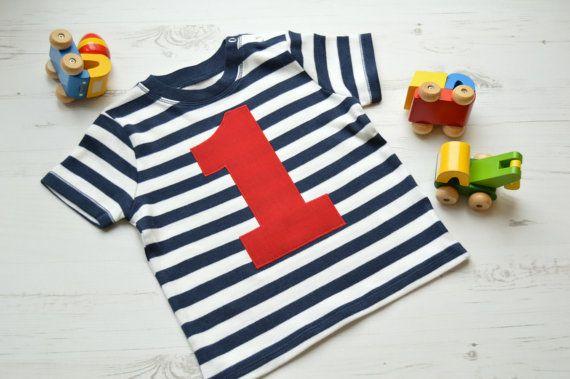 1st Birthday Outfit  Navy Birthday Top  Boy by CottonandBloom
