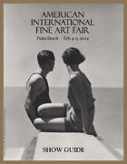 """This year's Show Guide featuring gorgeous image """"Divers"""" by Hoyningen-Huene courtesy of Holden Luntz Gallery in Palm Beach"""