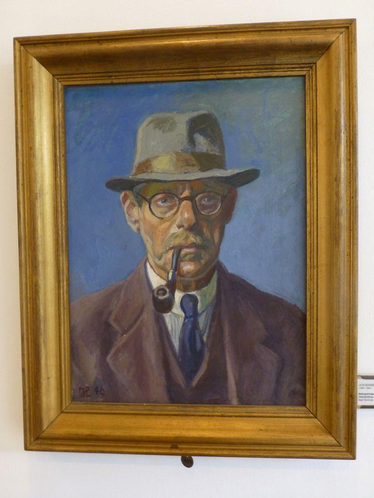 Johannes Larsen 1946 - Self Portrait  Danish painter (1867-1961) Visit www.johanneslarsenmuseet.dk