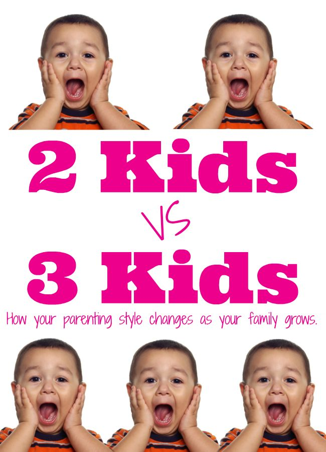 Two kids vs three kids - how your parenting style changes!