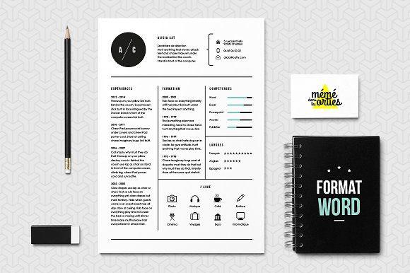 Cat - Resume template Word by MéméDansLesOrties on @creativemarket