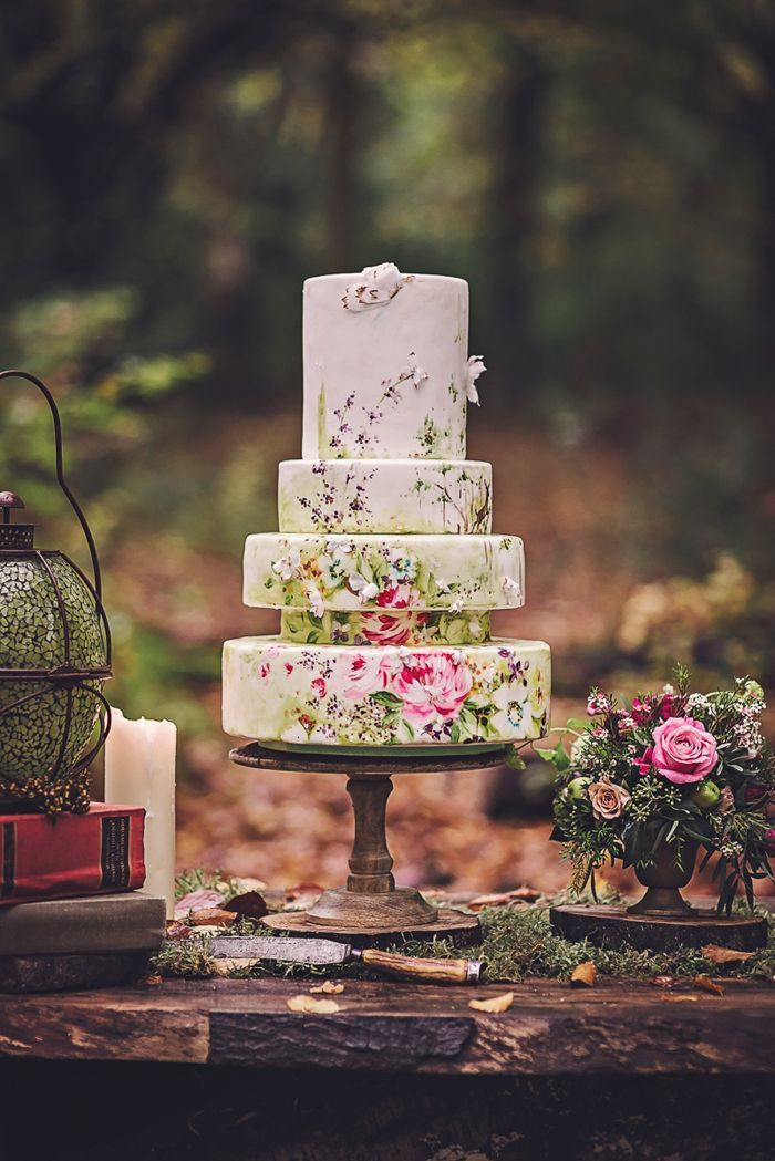 I made a cake for this lovely shoot with Bochic Weddings and Events it was inspired by A Midsummer Night's Dream.. Photo credit Matthew Bishop Photography Flowers Willow & Thyme props The Furniture Recycling Shop